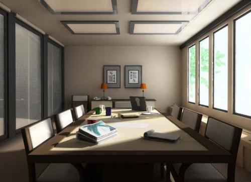комната для совещаний в стиле конференции