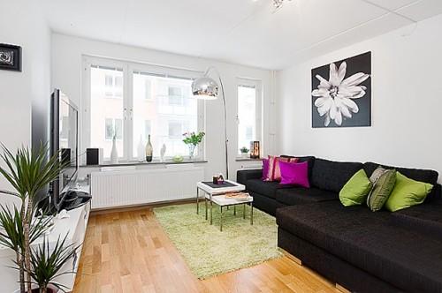 зона гостиной в квартире студии