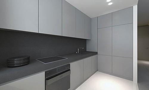 современная кухня в квартире студии