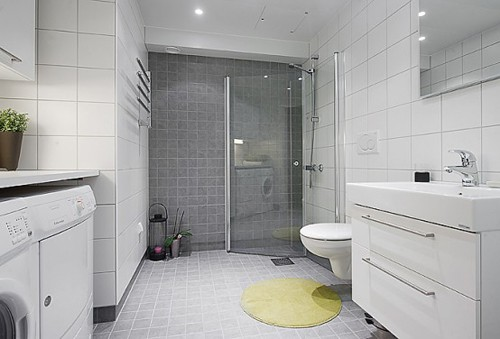 дизайн ванной в квартире студии