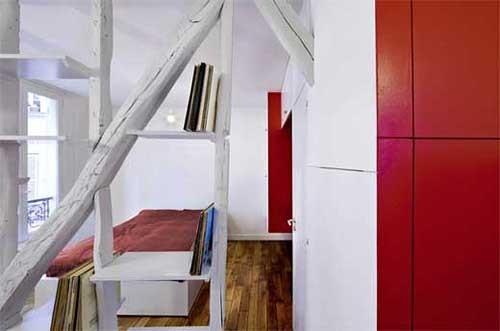 оригинальное зонирование квартиры студии