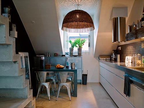 кухня в дизайне студии