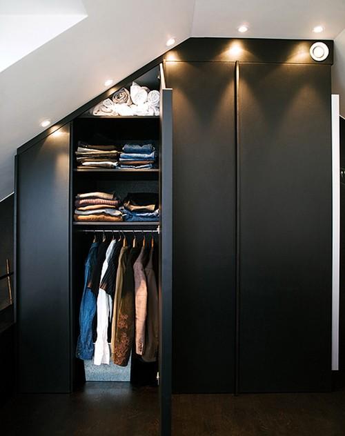 встроенный шкаф в студии