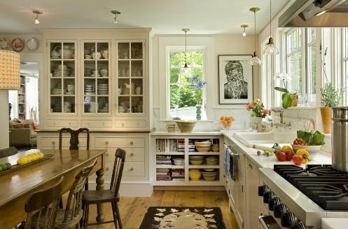 открытые полки для кухни