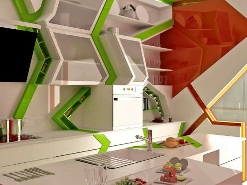 дизайнерские полки для кухни