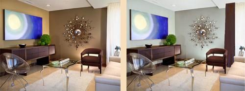 гостиная до и после косметического ремонта