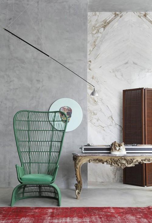 необычная мебель в дизайнерском интерьере