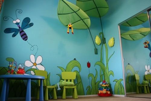 роспись с объемными фигурами в детской