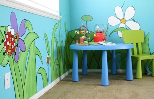роспись в детской для маленького ребенка