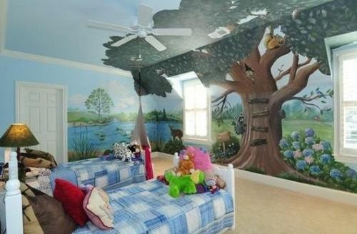 профессиональная роспись в детской комнате