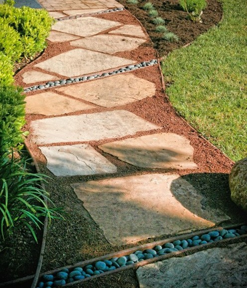 оригинальный дизайн садовой дорожки