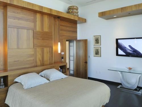 интерьер спальни со встроенной мебелью