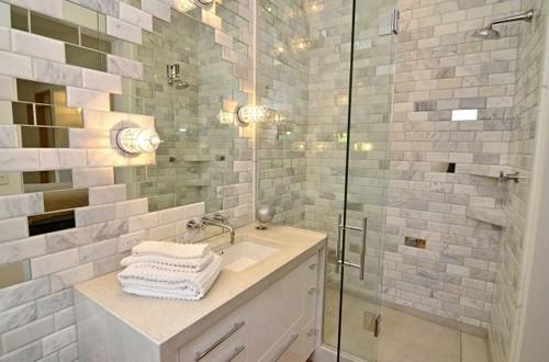 оригинальный дизайн зеркала в ванной