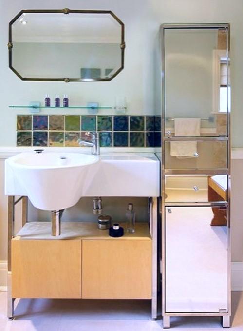 зеркальный пенал для ванной