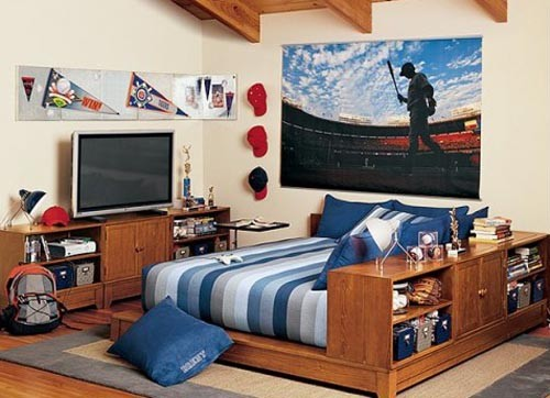 декор комнаты подростка мальчика