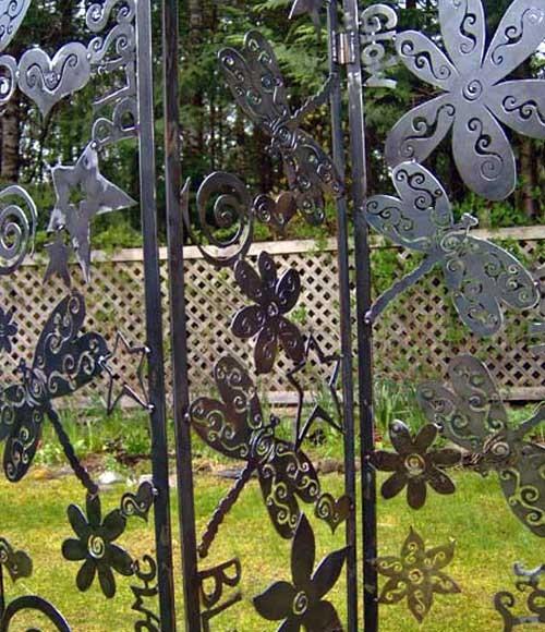 металлическая садовая ширма