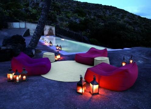 световой дизайн сада