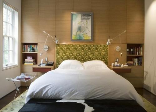 изголовье кровати в виде мебельной стенки