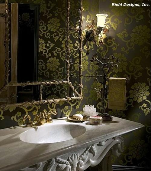 ванная в стиле необарокко