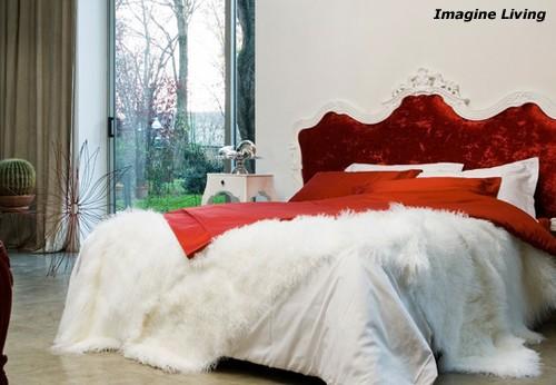 мебель и декор в спальне необарокко