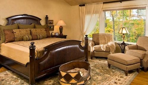 отделка спальни в доме с животными
