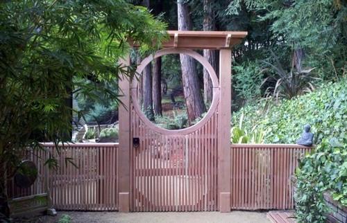 садовая калитка в восточном стиле
