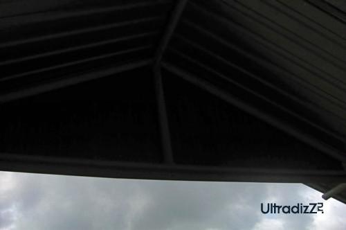 крыша беседки из профнастила