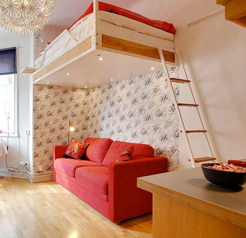 спальная зона в однокомнатной квартире