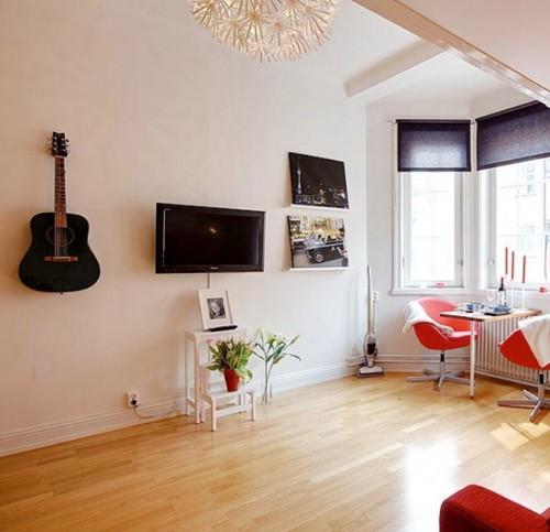 дизайн однокомнатной квартиры с эркером