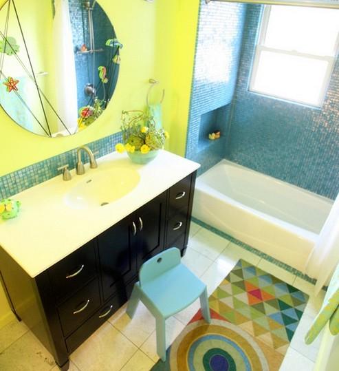 цветовая гамма детской ванной