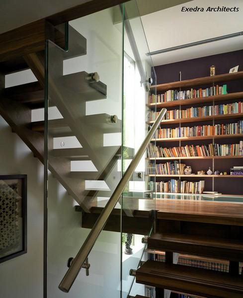 современный дизайн лестницы
