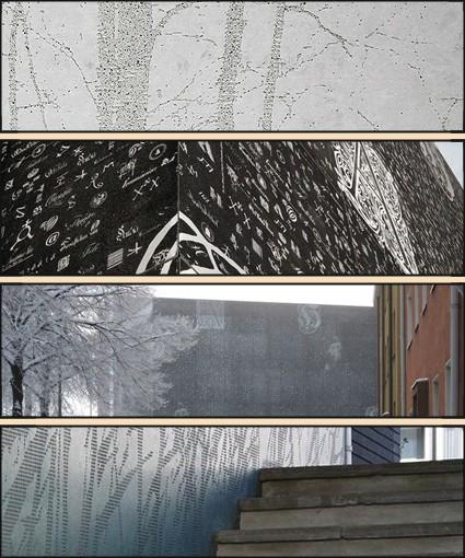 графический бетон образцы