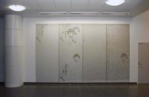 графический бетон в интерьере