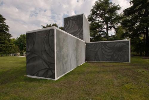 фасад из графического бетона