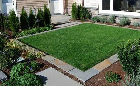 газонное ограждение из плитки