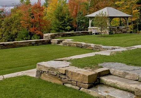 каменные газонные ограждения