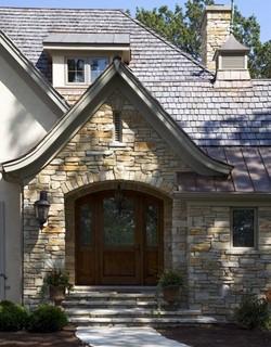 каменная облицовка дома