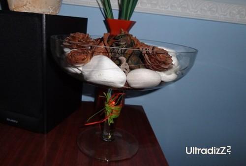 декоративная композиция в старой вазе