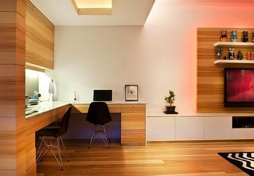 дизайн квартиры с деревянными панелями