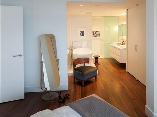 спальня объединенная с ванной