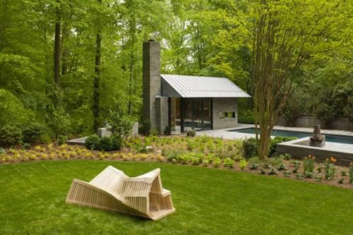 современный садовый домик