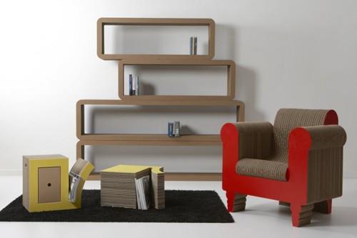картонная мебель kubedesign