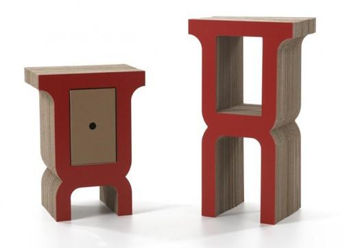 небольшие столики из картона