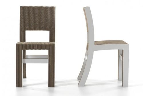 дизайн стула из картона