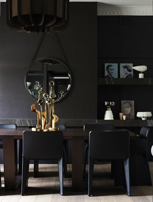 арт деко декор в интерьере столовой