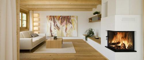 современная гостиная в традиционном альпийском доме