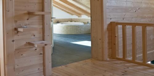 деревянный дом в альпийском стиле