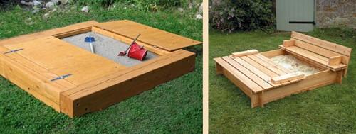 деревянные песочницы с откидной крышкой
