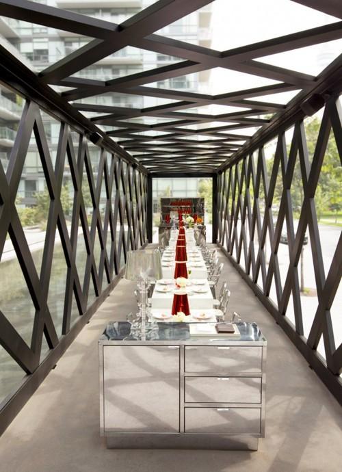 необычный дизайн интерьера ресторана