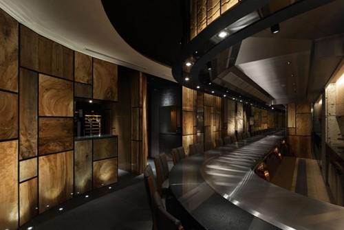 уникальный дизайн интерьера ресторана